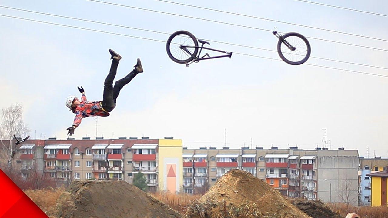 【事故】空中アクロバット中に自転車が壊れる!?【Video Pizza】