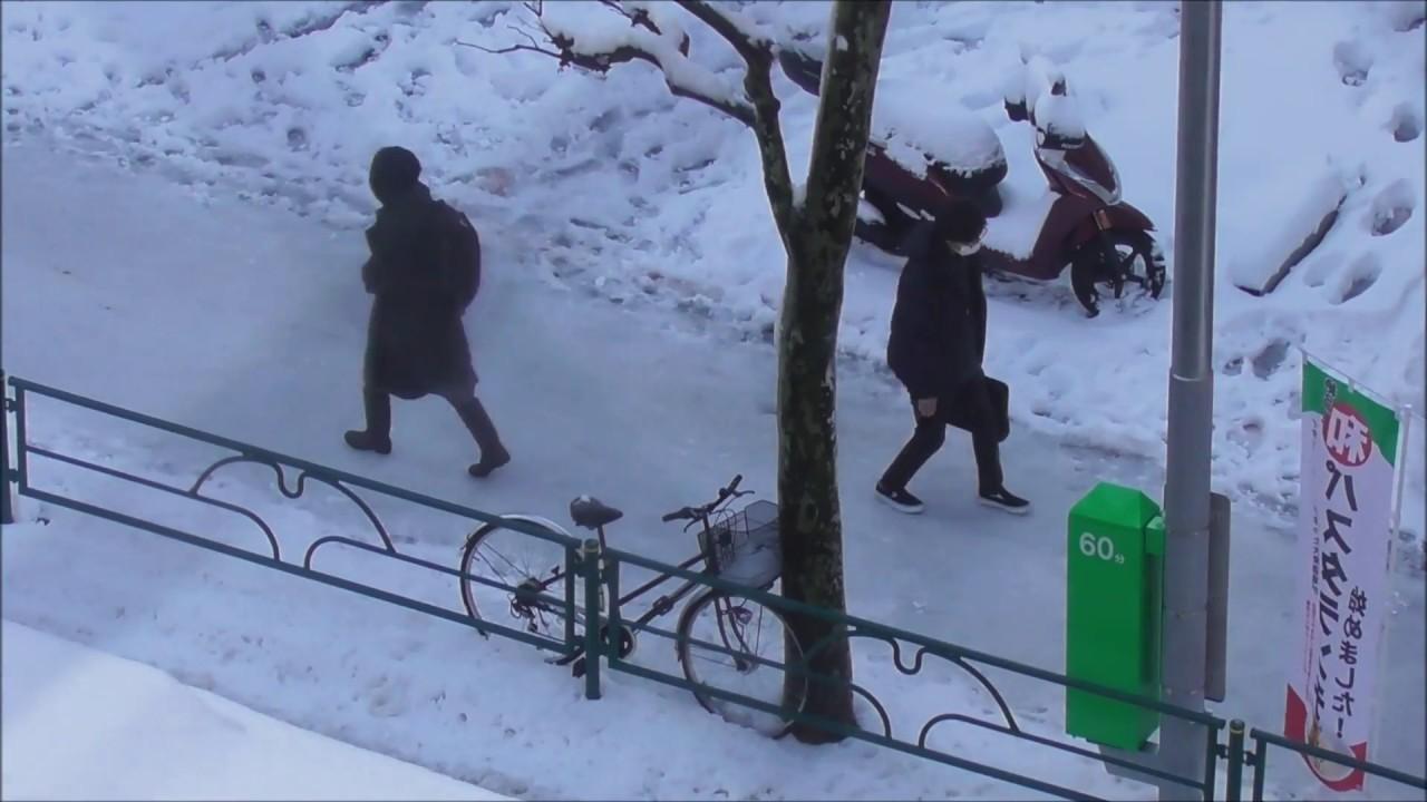 転倒事故 東京大雪 笑っちゃいけない魔の危険ゾーン
