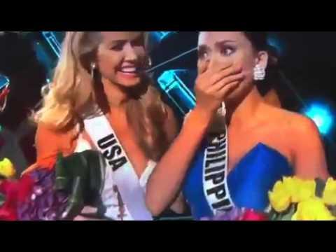 ミス・ユニバース2015はフィリピン代表、生中継で優勝者を誤発表【動画】