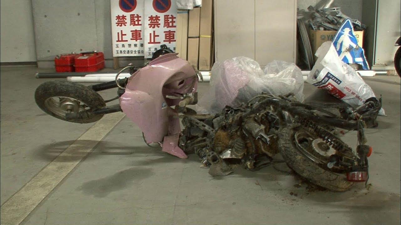 岡山・倉敷市 バイクの男子高校生死亡