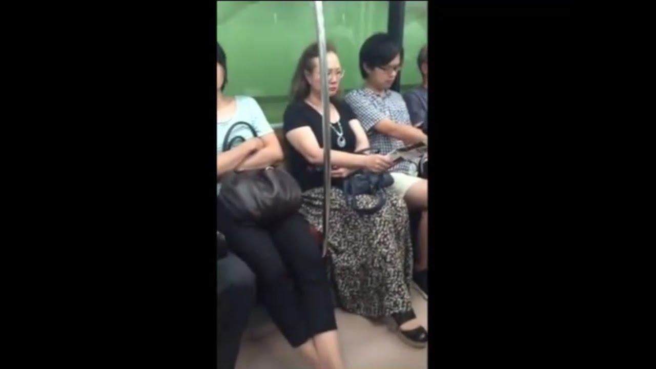 【閲覧注意】 電車内で激怒するオバさんからはじまる面白映像まとめ Part①