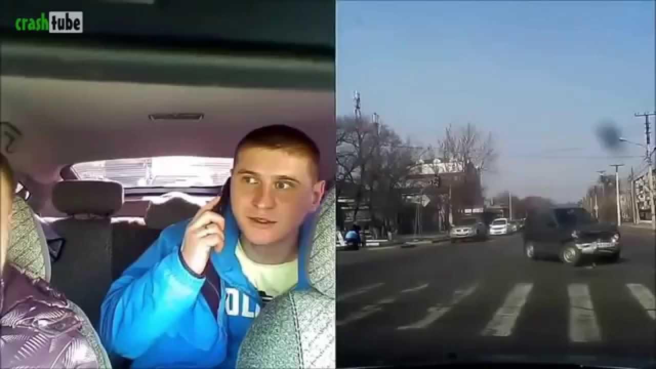 【閲覧注意】交通事故車内カメラ 調子に乗った若者の末路【HD】