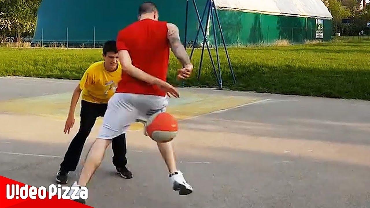 反応できない。ストリートバスケのフェイント凄技【Video Pizza】