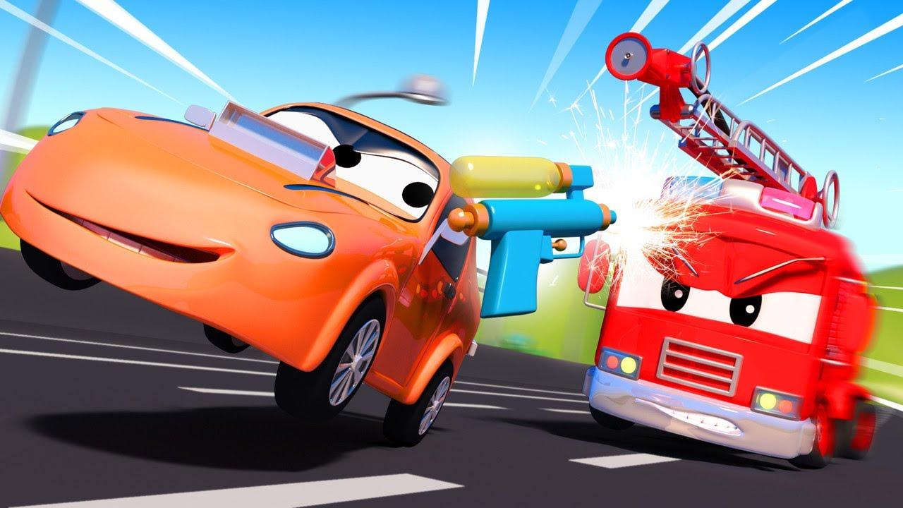 – 子供向けの警察車のアニメ 奇妙な花火  – 子供向けトラックアニメ 🚨 Police car for kids