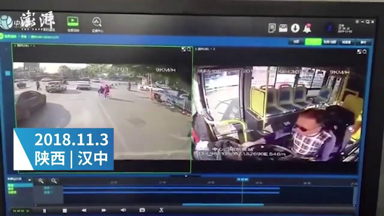 監視カメラ映像:路線バスの運転手、突然失神、自動車や歩行者と衝突し2名死亡5名負傷