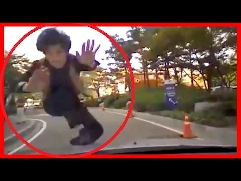 【衝撃映像】【閲覧注意】【当たり屋】ドライブレコーダー必搭載!韓国のキチガイ当たり屋1