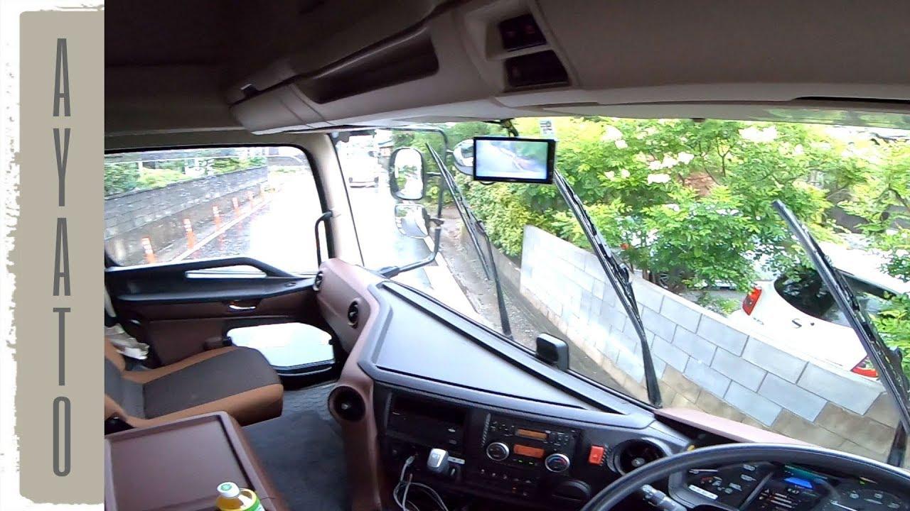 大型トラックで 絶望的に狭い路地に入ってみた【曲がれるか?】