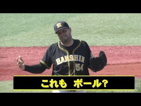 阪神メッセンジャー審判の厳しい判定で9四死球 19年5月25日