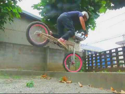 BIKETRIAL NN,PAPA 62  The sports of the 50 years old age 中高年のバイクトライアル