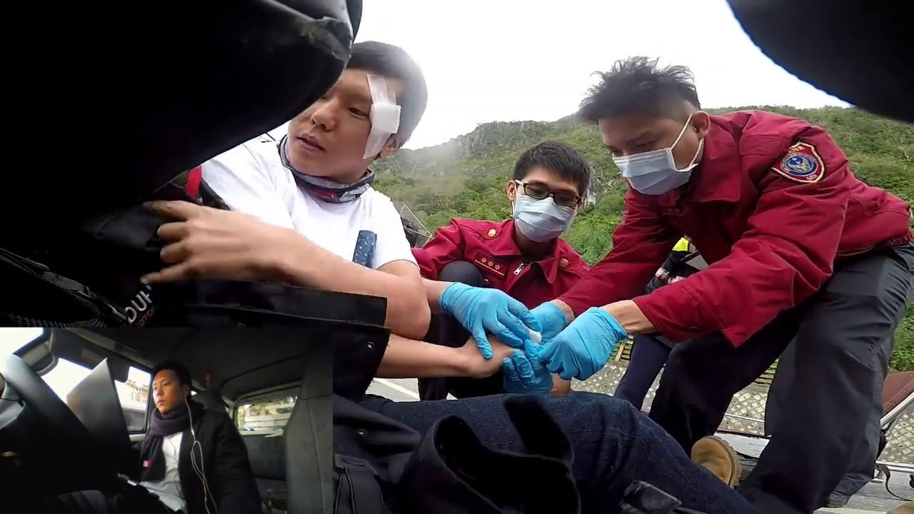 【ほぼノーカット】台湾一周中に起こった交通事故後の映像
