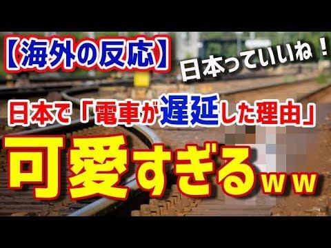 【海外の反応】日本で「電車が遅延した理由」が可愛すぎるwww タイ人の反応【日本人も知らない真のニッポン】