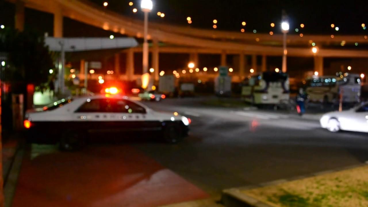 【大黒PA】 キレる警官!  爆音集団に拡声器で注意! 神奈川県警 高速隊 パトカー ゼロクラ