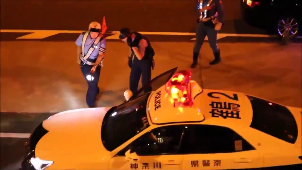牧港サンシャイン前で暴走族と警察がバトル!!