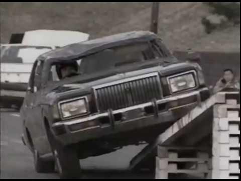 1990年元旦 西城秀樹さんの車スタント、片輪走行挑戦映像