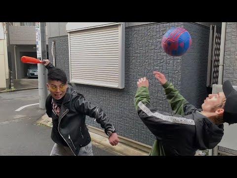【凄技】ヤンキーに絡まれてリフティング技で立ち向かう高校生!?