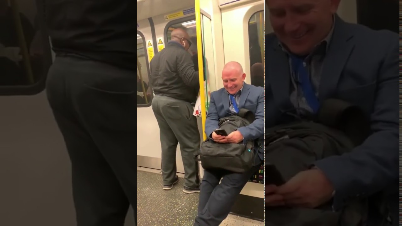 【long ver.】ロンドンの地下鉄でボンジョヴィの名曲を幾日も熱唱するおじさん 、そしてその後の幸せな展開 A man singing a famous song from Bonjovi
