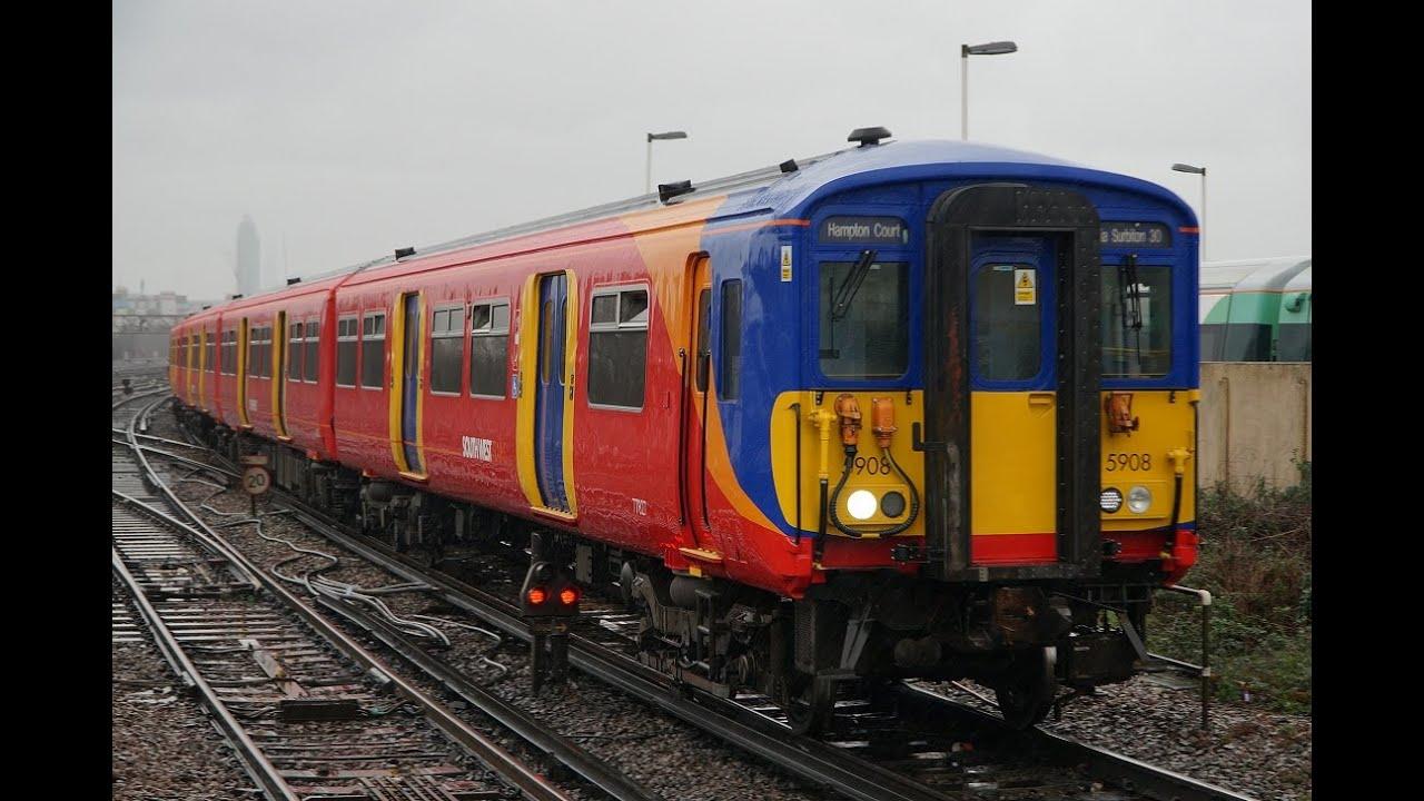 盛大に空転するイギリスの釣り掛け電車