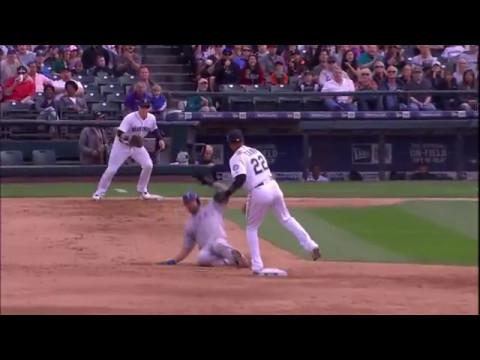 【MLB】メジャーの2B&SSの変態ダブルプレー集 Part 1