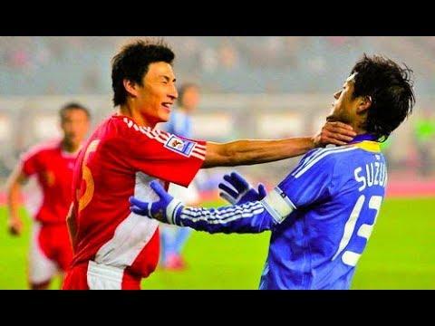 日本サッカー史上最高に荒れた試合 カンフー中国vs日本代表 ●乱闘 【ハイライト】China vs Japan Football