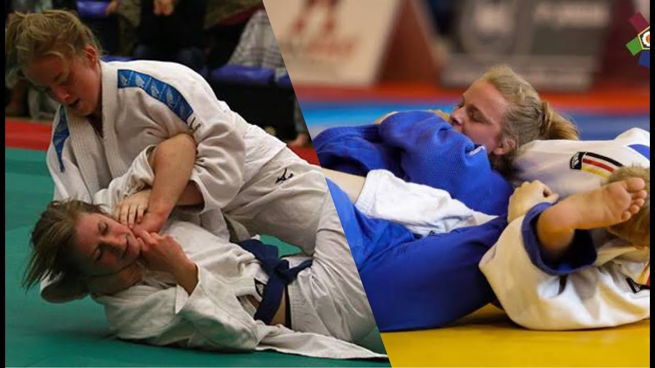 【柔道】 女子柔道・押さえ込み、そして絞め技から気絶、失神・・  これは柔道? 【凄技】 women's judo  choke out
