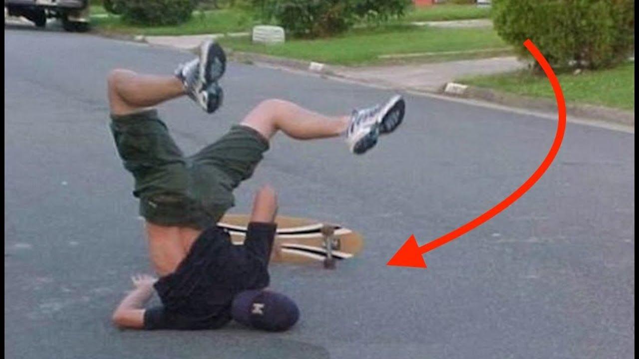《パフォーマンス》痛い・辛い・恥ずかしい,,,スケボー転倒^^;《衝撃》skateboard crash
