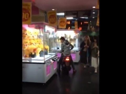 【ヤンキーがバイクで店内に突っ込むw衝撃DQN動画】